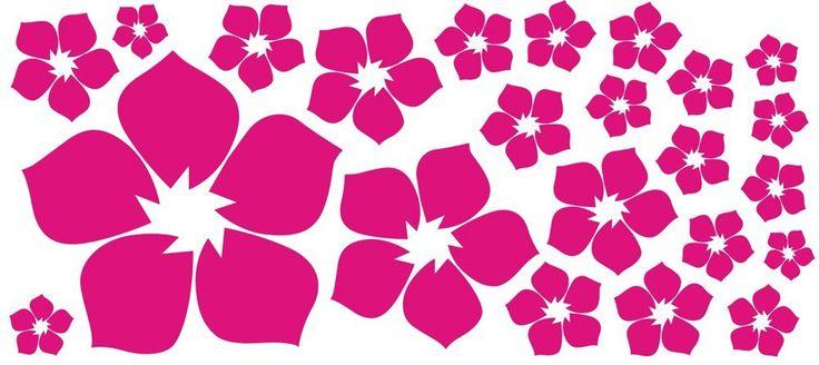 ufengke® 23-Pezzi Piccoli Fiori Adesivi Murali, Camera da Letto Soggiorno Adesivi da Parete Removibili/Stickers Murali/Decorazione Murale, Rosa Rossa: Amazon.it: Casa e cucina
