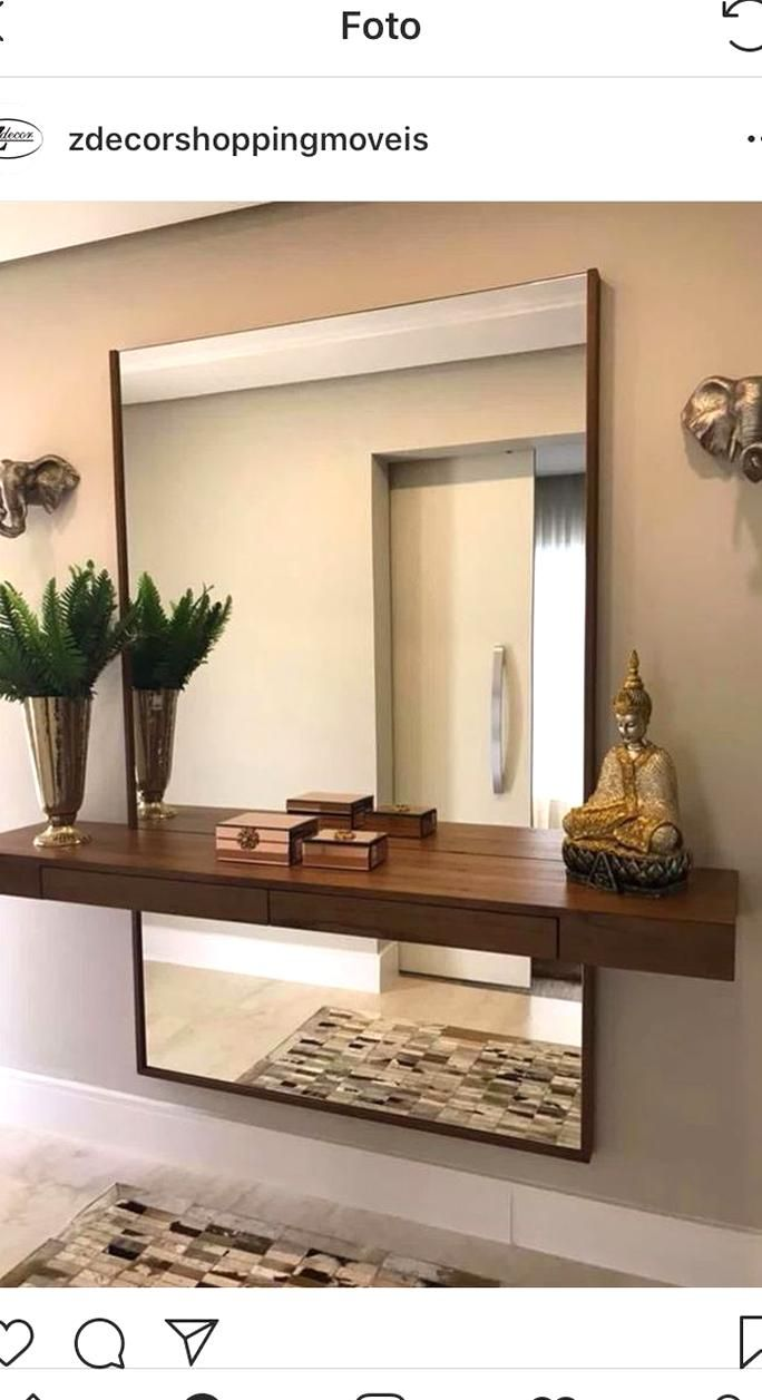 Large Mirror Entryway In 2020 Wall Decor Living Room Hall Decor Entrance Hall Decor