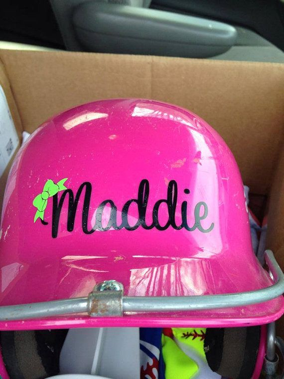 This listing is for one name decal for you helmet, I can do this in any color available, add a bow or other design for additional