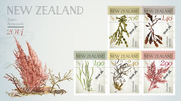NZ Native Seaweed First Day Cover