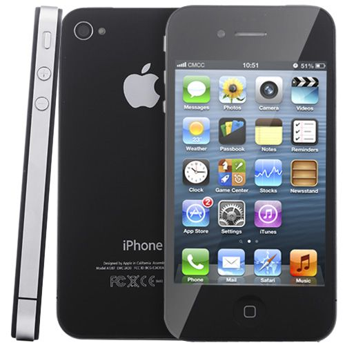 [$112.00] Refurbished Original Unlock Apple iPhone 4 Model A1332 16GB (Standard Package)(Black)