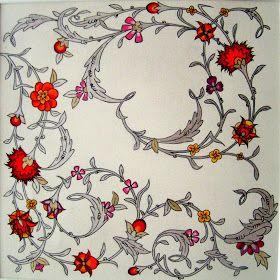 Persian Illuminations (Tazhib) artwork by Mojgan Lisar: Spiral
