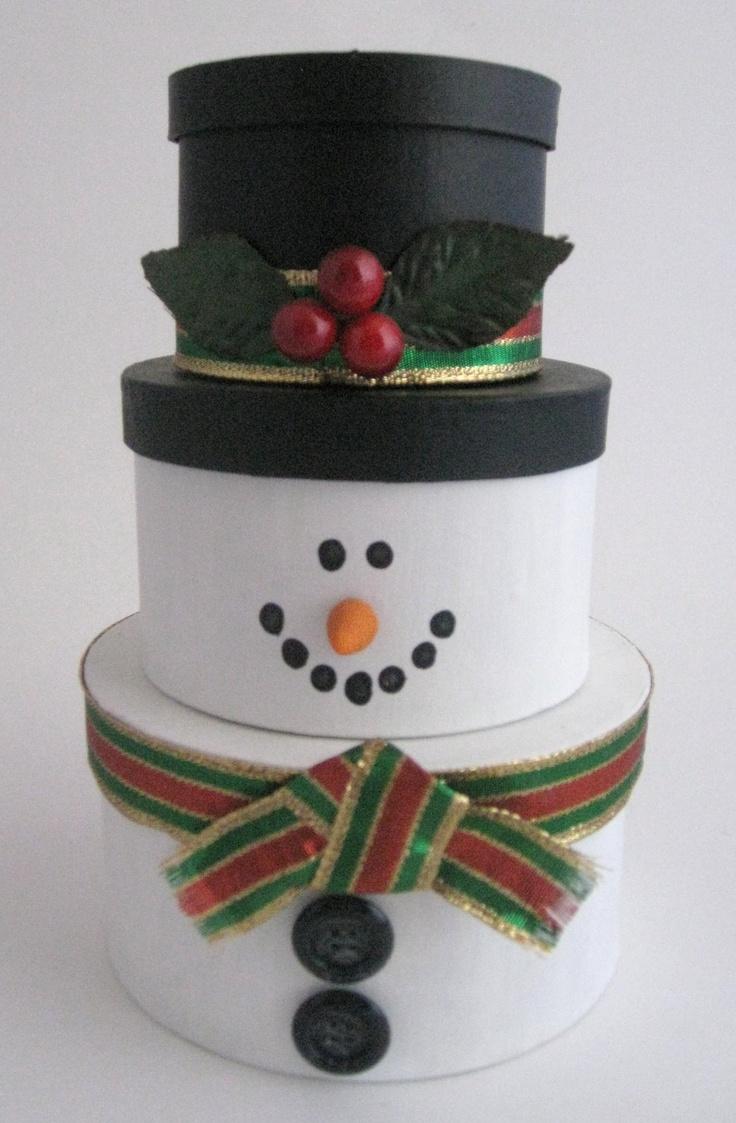 DIY Stackable snowman craft | Christmas | Pinterest ...