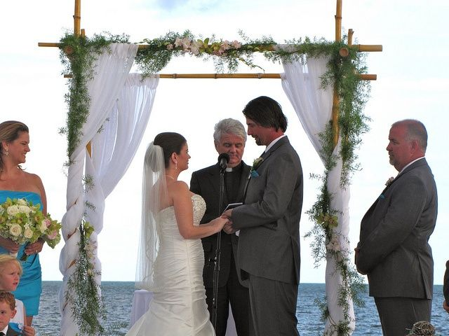 Bride And Groom At Destination Wedding In Key Largo By Http Mbeventdjs