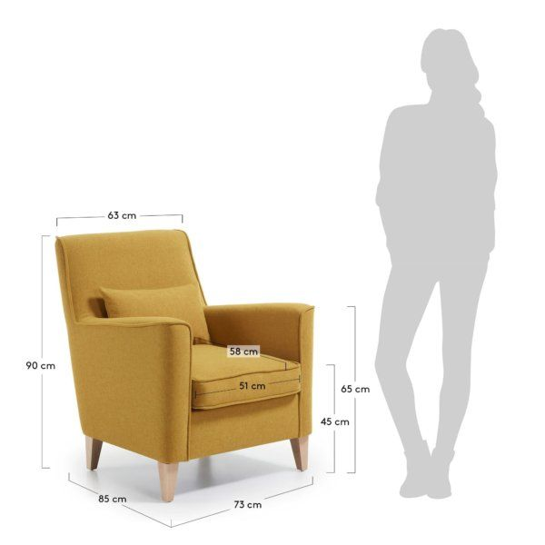 Useful Standard Chair Dimensions With Details - Engineering Discoveries | Contemporary Living Room Chairs, Chair, Drawing Room Furniture