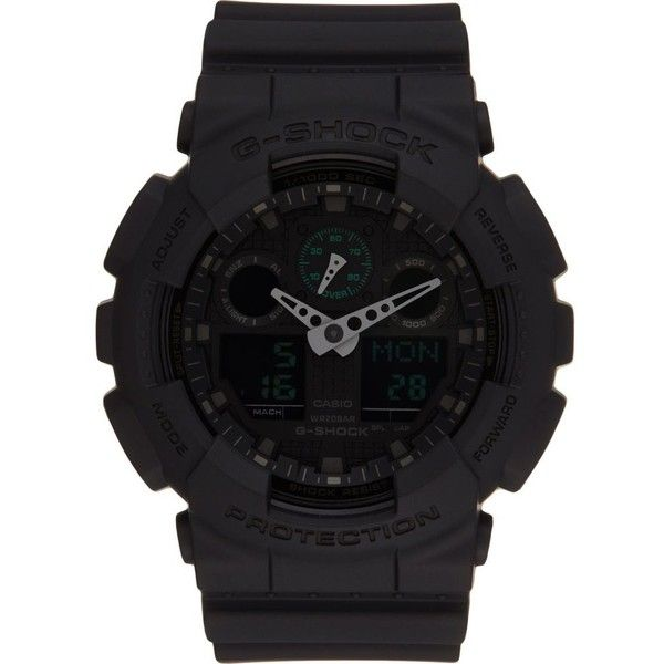 G-SHOCK GA100MB-1A Oversize Mass watch ($145) ❤ liked on Polyvore