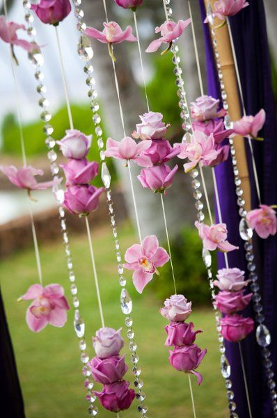 Pink Purple Altar/Arch Arrangements Outdoor Ceremony Wedding Ceremony Photos & Pictures - WeddingWire.com