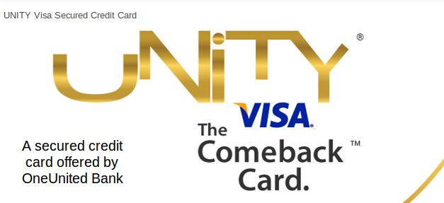 The UNITY Visa Secured Credit Card is the perfect credit card for people with bad credit, or for those looking to rebuild their credit. The UNITY Visa Card reports to all three credit bureaus and offers a fixed rate. You can manage your account online and begin to establish your credit history or get your credit back on track.