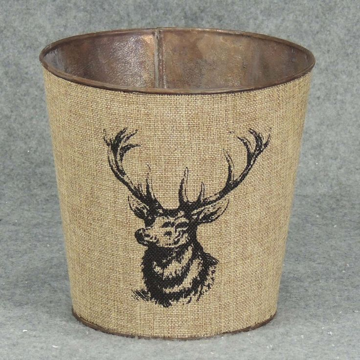 """1 Pc, 7"""" Wide & 7"""" Tall Elk Planter With Liner A Nice Addition To Primitive/Outdoor Style Winter Decorations, Grey metal, Outdoor Décor"""