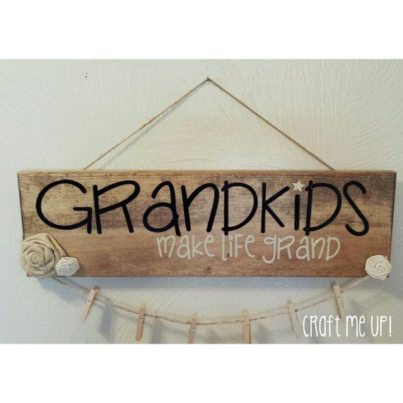 GRANDKIDS make life grand,Photo,Grandkids sign,Grandchildren,Grandparents,Grandma,Grandpa,Gift,Mothers Day,Present,Sign,decor,Gift Ideas