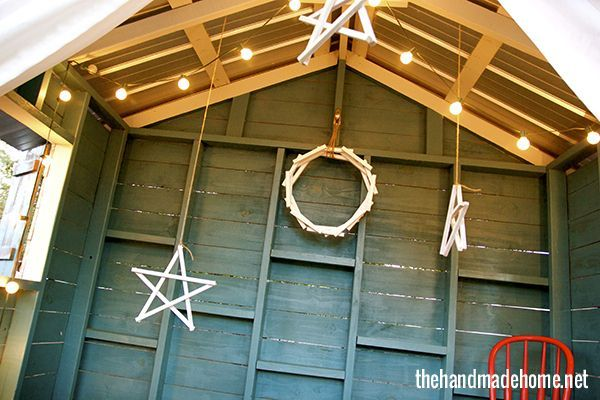 Command hooks and popsicle sticks make easy decorations that you can hang anywhere. | 51 Life-Saving Holiday Hacks That Are Borderline Genius