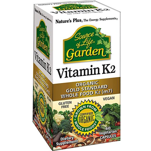 Source of Life Garden Organic Vegan Vitamin K2 (60 Vegetarian Capsules) by Natures Plus at the Vitamin Shoppe $16.99