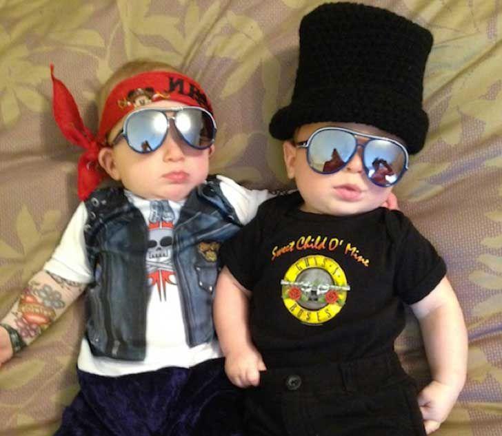 Resultado de imagen para BEBES disfraces rockeros