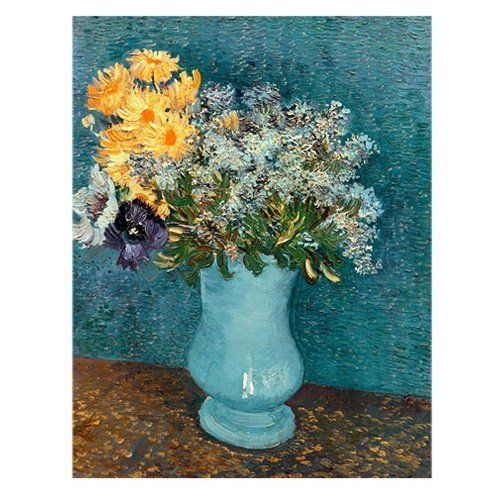 Vase of Flowers Canvas Art by Vincent Van Gogh | from hayneedle.com