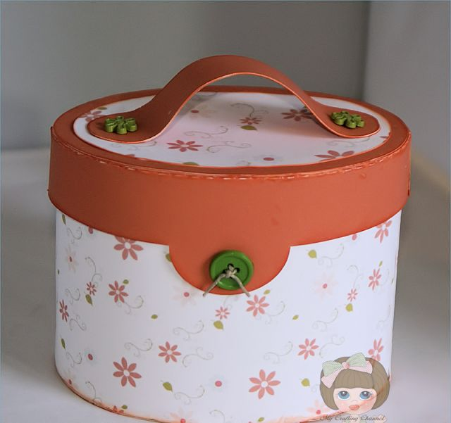 SEW CRAFTY SVG KIT is full of wonderful projects to make.  Here is a Sewing Box Nana made!  It's just fabulous, isn't it!  I love the Thread Spool Box in the kit, Omg, it's awesome!  Beautiful job, Nana!