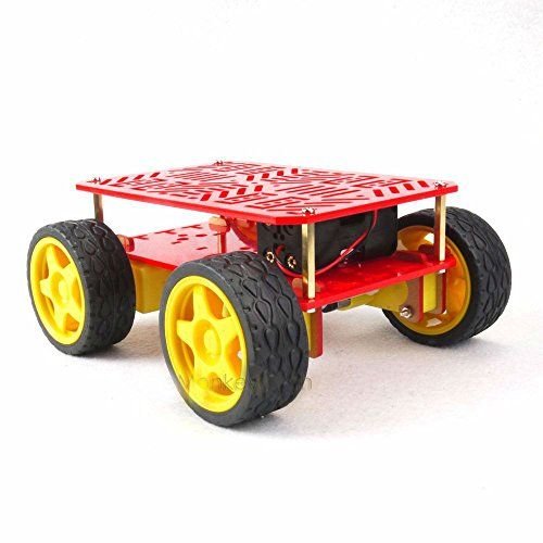 #trendy ? 4 #Wheel Drive Mobile Robot Platform Arduino Compatible ?