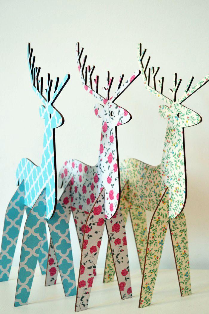 homemade photo ornaments ideas - Más de 1000 imágenes sobre Navidad Venados en Pinterest