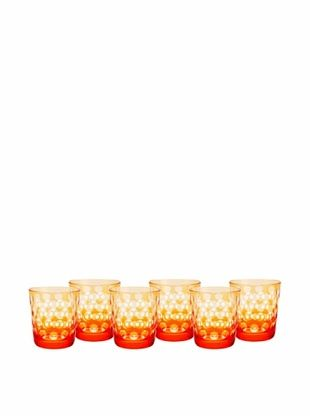 50% OFF Impulse! Set of 6 Melrose Rocks Glasses, Orange