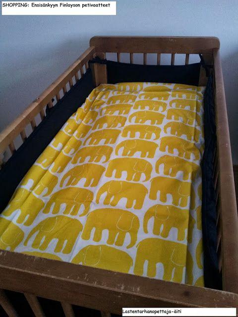ostokset, petivaatteet, Finlayson, lastentarvikkeet, lasten sänky, vauvan sänky
