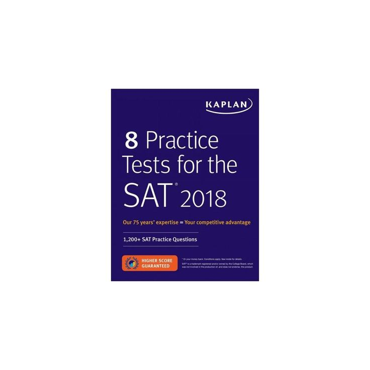 8 Practice Tests for the Sat 2018 : 1,200+ Sat Practice Questions (Paperback)