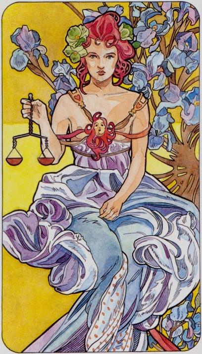 Art Nouveau Tarot / Justice