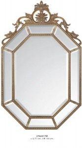 Casa Padrino Barock Wandspiegel Gold H 144 cm B 91 cm - Edel & Prunkvoll - Goldener Spiegel Spiegel