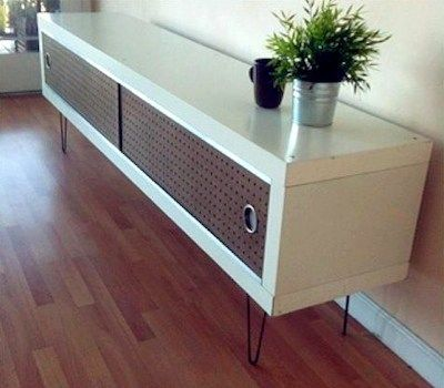 mid century vintage ikea console table diy hack this. Black Bedroom Furniture Sets. Home Design Ideas