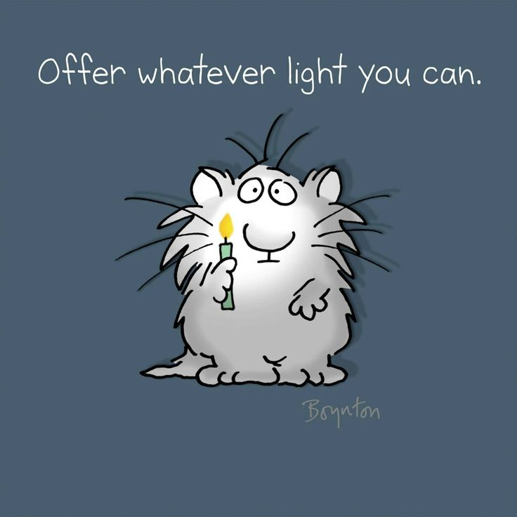 Offer whatever light you can.