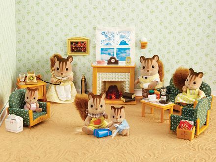 deluxe living room set critters always enjoy quality time with their family over 40 - Sylvanian Families Living Room Set