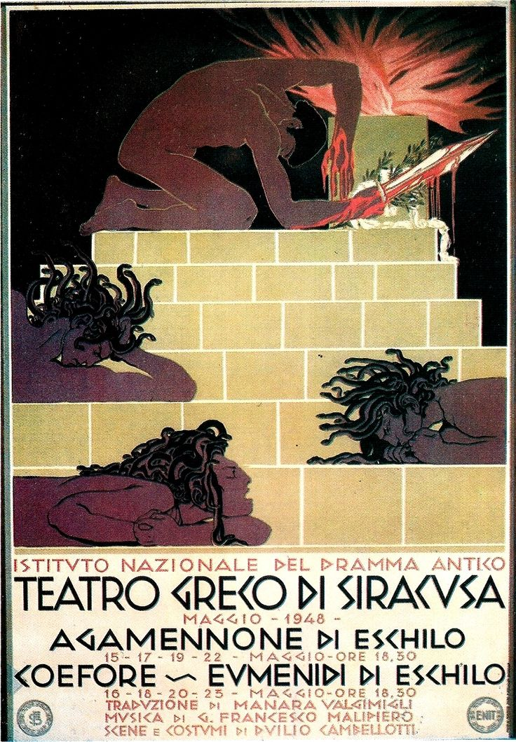 poster for Greek play - Siracusa