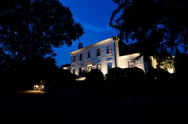 Architectural lighting on Belle Meade Blvd. by Outdoor Lighting Perspectives of Nashville.