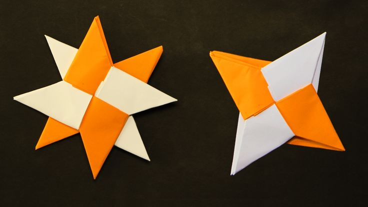 Ninja Star Transformer Video instructions Origami Transforming Ninja Star (Shuriken) with 4 or 8 points