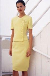 vestidos sastres amarillos