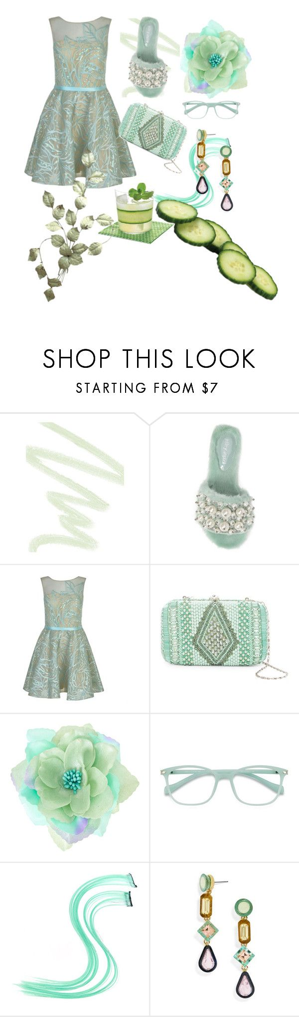 """Cucumber Mint Refresher"" by gigi-sessions ❤ liked on Polyvore featuring Dolce&Gabbana, Jeffrey Campbell, Forever Unique, G-lish, EyeBuyDirect.com and BaubleBar"