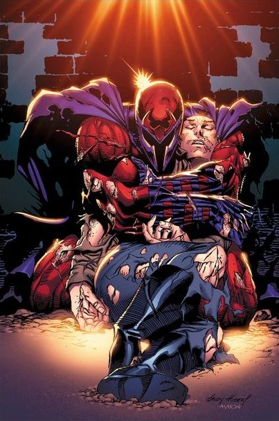 Magneto and Professor X -    And people don't think he has a reason to hate humanity. World War II, this... In the comics. Charles got paralyzed because someone tried to shoot Erik and Charles jumped in front of the bullet...