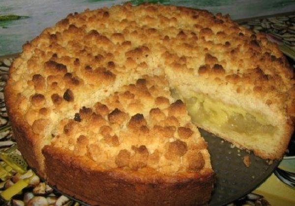 Песочный пирог с яблочной начинкой «Царский»
