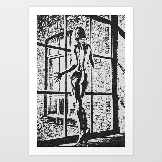 """25% Off Everything With Promo Code LOVEART25 - Ends Tonight at Midnight PT! Gallery quality Giclée print on natural white, matte, ultra smooth, 100% cotton rag, acid and lignin free archival paper using Epson K3 archival inks. Custom trimmed with 1"""" border for framing. #society6 #art #prints #sexy #illustration #kinky #naughty #dirty"""