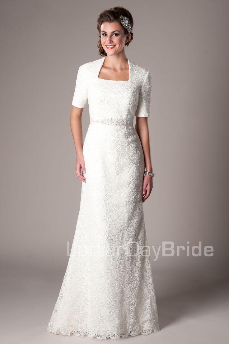 30 best lds wedding dress ideas images on pinterest for Cheap lds wedding dresses