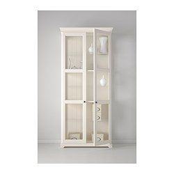 LIATORP Glass-door cabinet - white - IKEA; would love for my dining room to display vintage dishes.  Now for the $ to buy it...