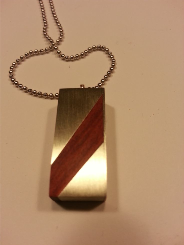 German silver and bloodwood necklace.