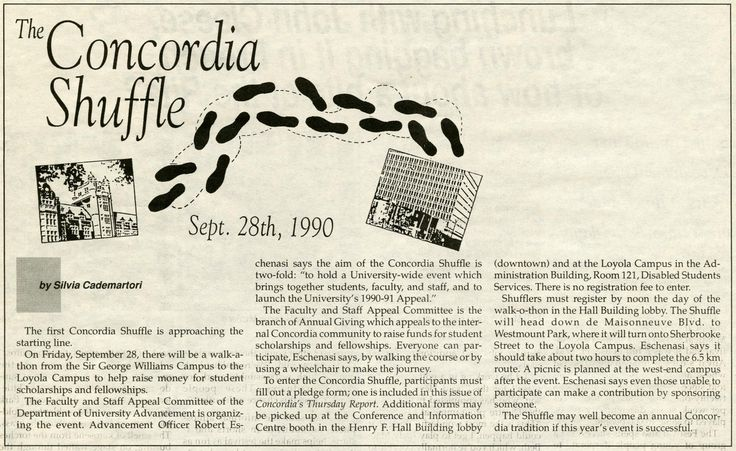 Visit @Concordia University University #Archives for a look back at the #Concordia #Shuffle through the Years.  The Concordia Shuffle is a #Homecoming tradition. #Concordians walk from Sir George Williams Campus to Loyola Campus to raise funds for student scholarships and bursaries.