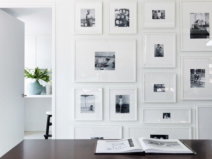 Gorgeous crisp, clean, modern gallery wall - love it!