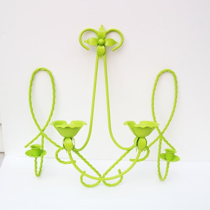 Wall Mounted Candle Holders Hanging Sconces Upcycled Metal Candlestick