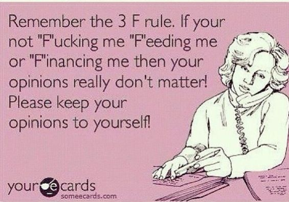 Ecard: simple as that : mind your own business :  the 3 f rules