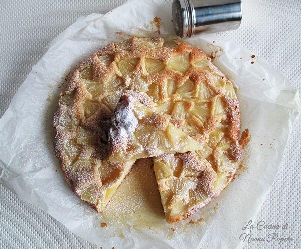 Torta di ananas leggera ricetta semplicissima.