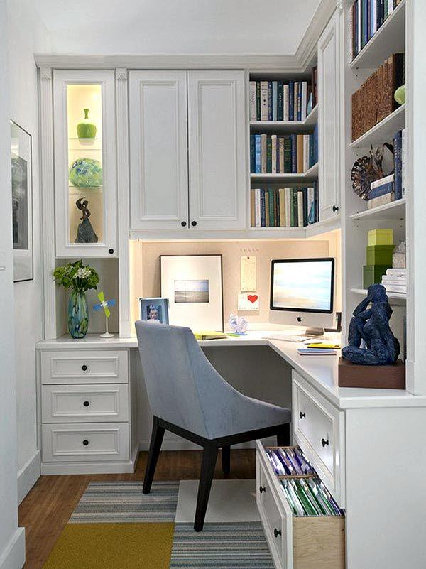 Дизайн интерьера домашнего офиса, оформление рабочего кабинета