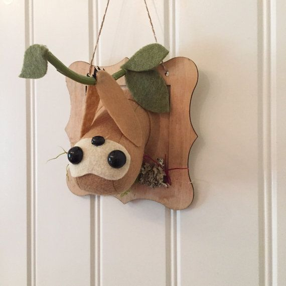 Cute little sloth mounted on a 5 plaque. Ready to ship