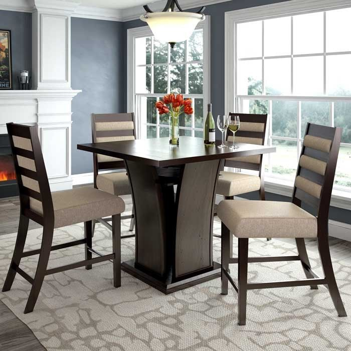 CorLiving Bistro Counter Height Dining Set Cappuccino