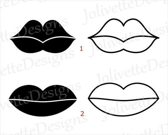 Lips Mouth Kiss Clip Art Clipart Design Svg Files Png Etsy Paper Flower Kit Clipart Design Clip Art
