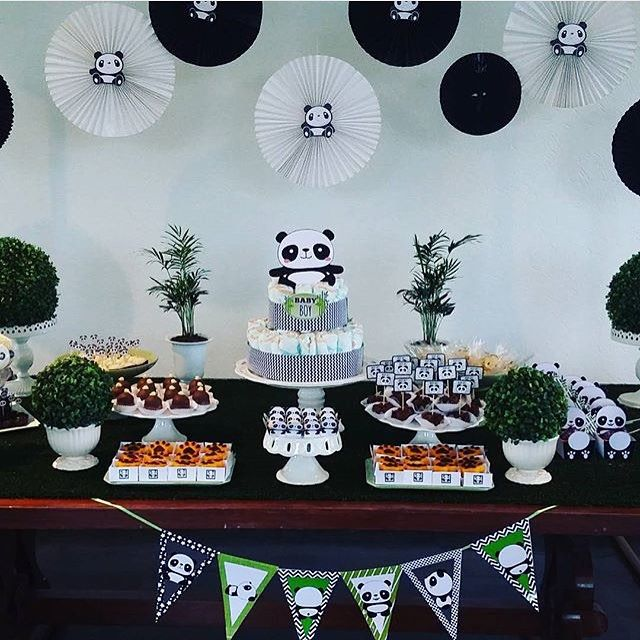 Kikids Party: Chá de bebê muito fofo com tema Panda, por @quickfesta  #kikidsparty